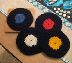 Vinyl records coasters