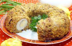 A kuglóf formában nem csak süteményeket készíthetsz, ma egy nagyon könnyű, finom húsos étel receptjét mutatjuk meg. Családi ebédeken is megállja a helyét! Hozzávalók: 1 nagyobb csirkemellfilé 200 g csirkemáj 6 tojás 1 hagyma 1 sárgarépa 2 szelet kenyér 3 gerezd fokhagyma csipet kapor olaj só bors Elkészítés: A húst[...]