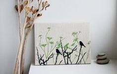 screen print on linen by PoetryAndCloth