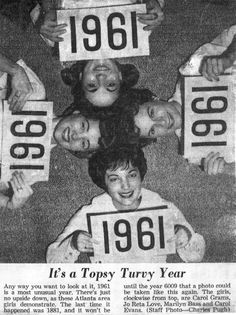 Picture From the Past — Topsy Turvy Year — Reminisce Vintage Ads, Vintage Photos, Comic, Interesting History, Back In The Day, That Way, The Good Old Days, Old Photos, American History