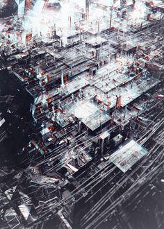 Cyberpunk Images (hardsci-fi:   MINING FACILITY byatelier...)