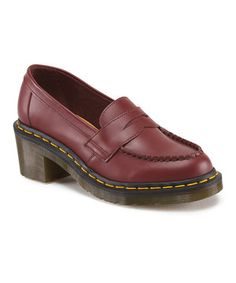 Another great find on #zulily! Cherry Red Kizzy Leather Loafer by Dr. Martens #zulilyfinds
