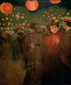 The Athenaeum - Bal en plein air (Ramon Casas y Carbó - ) Spanish Painters, Spanish Artists, Latin Artists, Ramones, Belle Epoque, Modernisme, Oil Painting Reproductions, Art And Illustration, Retro Illustrations