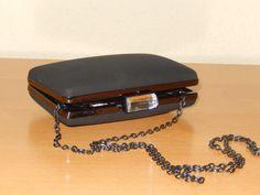 Clutch-Tasche-Schultertasche-Umhaengetasche-Paisley-Abendtasche-Velour-Case-Hard
