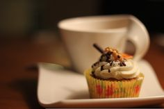 Carrot Cupcake with Cream Cheese Frosting Cupcakes With Cream Cheese Frosting, Carrots, Tableware, Desserts, Food, Dinnerware, Meal, Dishes, Deserts