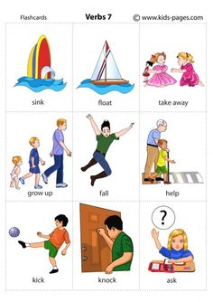 Kids Pages - Verbs 7 Learning English For Kids, Kids English, English Study, English Lessons, Teaching English, Learn English, Kids Learning, English English, English Verbs