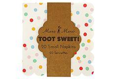 S/80 Small Toot Sweet Spotty Napkins on OneKingsLane.com