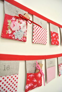 The ORIGINAL Christmas Bunting advent calendar by SewSweetViolet