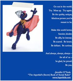 We could all learn a lot from Super Grover. www.Asperkids.com