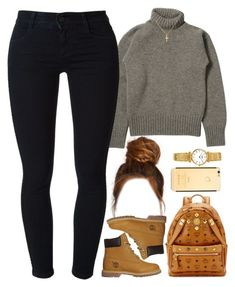 """""""04 December, 2016"""" by jamilah-rochon ❤ liked on Polyvore featuring MCM, STELLA McCARTNEY, Timberland and Sterling Essentials"""