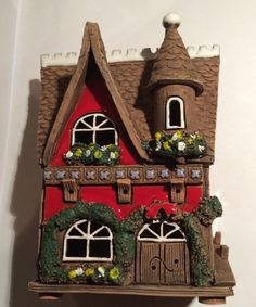Lithuanian hand made clay candle house #UnikalusVaizdus #Traditional