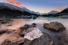 Sunset shot at Tasman Glacier Lake Sunset Landscape, Landscape Photos, Nature Images, Nature Photos, Beautiful World, Beautiful Places, Photography Courses, Photography Tips, Photography Tutorials