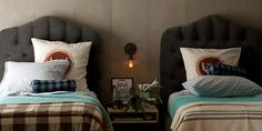 From Schoolhouse Electric. They nailed a modern country charm.  Love their new blankets. #bedroom