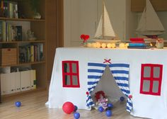 Table play house, tablecloth play house, play tent, outdoor playhouse, indoor playhouse, birthday accessory, tablecloth house, children