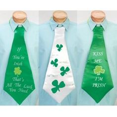Assorted St. Patrick's Day Neck Ties. Bulk wholesale St. Patrick's Day supplies.