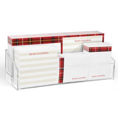 Red Plaid Post-it® Notes Ensemble