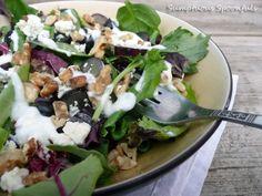 Black Grape, Walnut & Blue Cheese Salad with Vanilla Ginger Yogurt Dressing