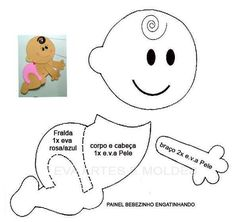 Resultado de imagem para heart shaped animals print and cut Baby Shower Crafts, Baby Crafts, Felt Crafts, Baby Shower Themes, Baby Shower Decorations, Diy And Crafts, Moldes Para Baby Shower, Scrapbook Bebe, Scrapbook Patterns