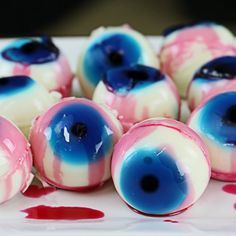 these super sweet and tasty eyeball jello shots are perfect for halloween or any - Best Halloween Jello Shots
