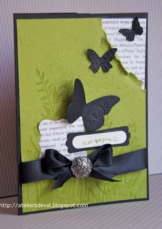 Stampin Up, Card, distressed corner, nice layers, Beautiful Wings embosslit