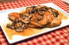Paleo Chicken Marsala  #PlaidandPaleo