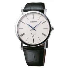 Zegarek męski SEIKO PREMIER SKP395P1 (SI SKP395P1) - Time Trend