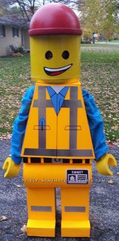 Homemade Emmet Costume – Star of The Lego Movie...