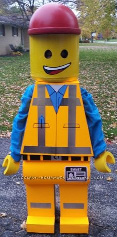Homemade Emmet Costume – Star of The Lego Movie...