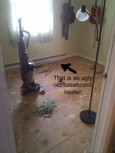 Removing baseboard heaters, funny process