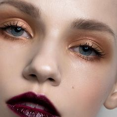 the wine lips // #mua #makeup #beauty #closeup #occ #liptar #winelips #perfectskin #highlight