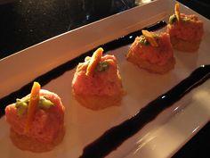 Spicy Tuna on tempura rice with balsalmic (no recipe)