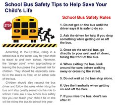 Back to School: Bus Safety Tips for Your Child