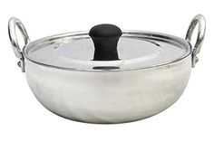 Aluminium Kadhai With Lid Pot Cookware Karahi Wok Utensil Kadai Kitchenware 1.2 Litre