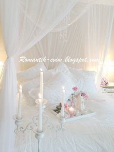 Shabby chic bedroom, Romantik evim