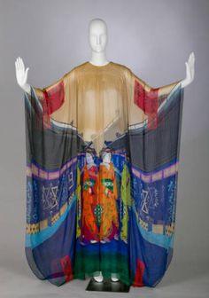 Evening dress, circa 1974. Silk chiffon. Hanae Mori, Japan. Gift of Mrs. William T. Ylvisaker. 1984.433.1:: Costume and Textile Collection