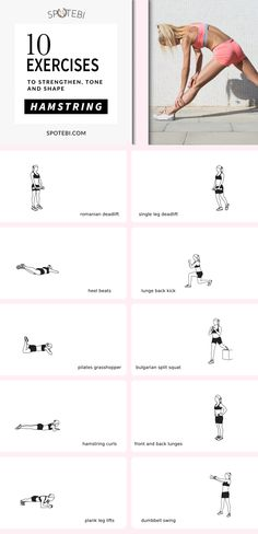 Tighten the back of your legs and glutes and feel your Hamstrings working with this Quick Burn Workout for women! https://www.spotebi.com/workout-routines/hamstring-workout-strengthen-tone-shape-back-thighs/