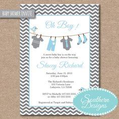 Baby Shower Invitation by VictoriaWardDesign on Etsy