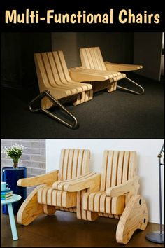 This Cleverly Designed Multi-Function Seat Turns into a Bench, Armchair, Table and More!