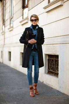 giacca di jeans d'inverno