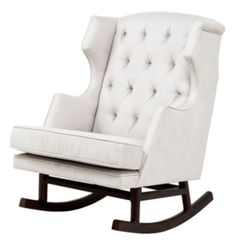 Just ordered this rocker for little mans room with the interior designers last week but in grey :) grey/ orange white and brown room :)