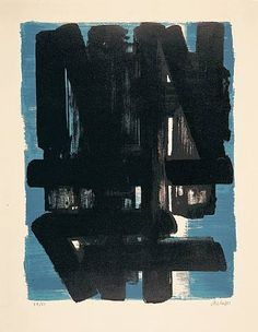 Lithograph No. 5 — Pierre Soulages, 1957