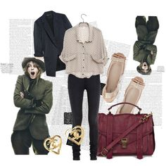A fashion look from August 2010 featuring over sized shirts, elizabeth and james blazer and 5 pocket jeans. Browse and shop related looks.