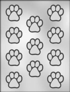 Amazon.com: CK Products 1-1/2-Inch Paw Print Chocolate Mold  Mold to make crayons
