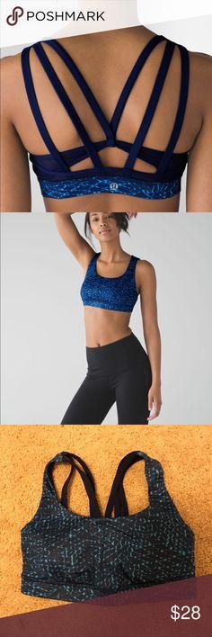 Lululemon energy bra exhale blue size 4 Worn a few times. Originally $58 Size 4 (lululemon sizing) lululemon athletica Intimates & Sleepwear Bras