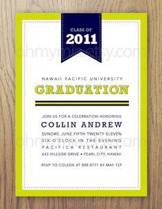 Printable Preppy Graduation Invitation