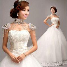 White Organza Sweetheart Corset Princess Bridal Wedding Ball Gown Dress SKU-119081