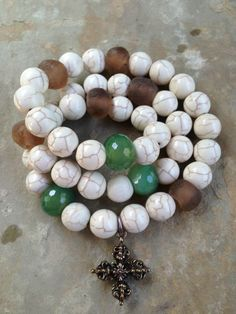#white #turquoise and other beautiful stones in a wrap #bracelet from August Heart One of a Kind. Www.facebook.com/augustheartoneofakind