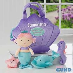 Buy the Mermaid Adventure Playset by Baby Gund & add the child's name - Free personalization! See more Personalized Gifts for Kids at PersonalizationMall.com