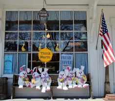 Bunnies at the Brewster General Store in the Spring-Brewster, Cape Cod.