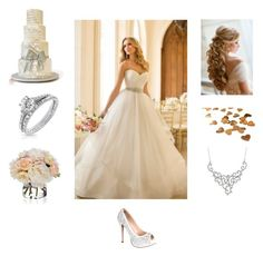 """""""Wedding"""" by brooke21-1 ❤ liked on Polyvore featuring Lauren Lorraine, Diane James, Bling Jewelry, women's clothing, women's fashion, women, female, woman, misses and juniors"""